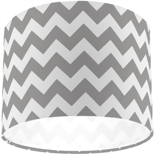 Riley Blake Grey Chevron Zig Zag Drum Lamp Shade