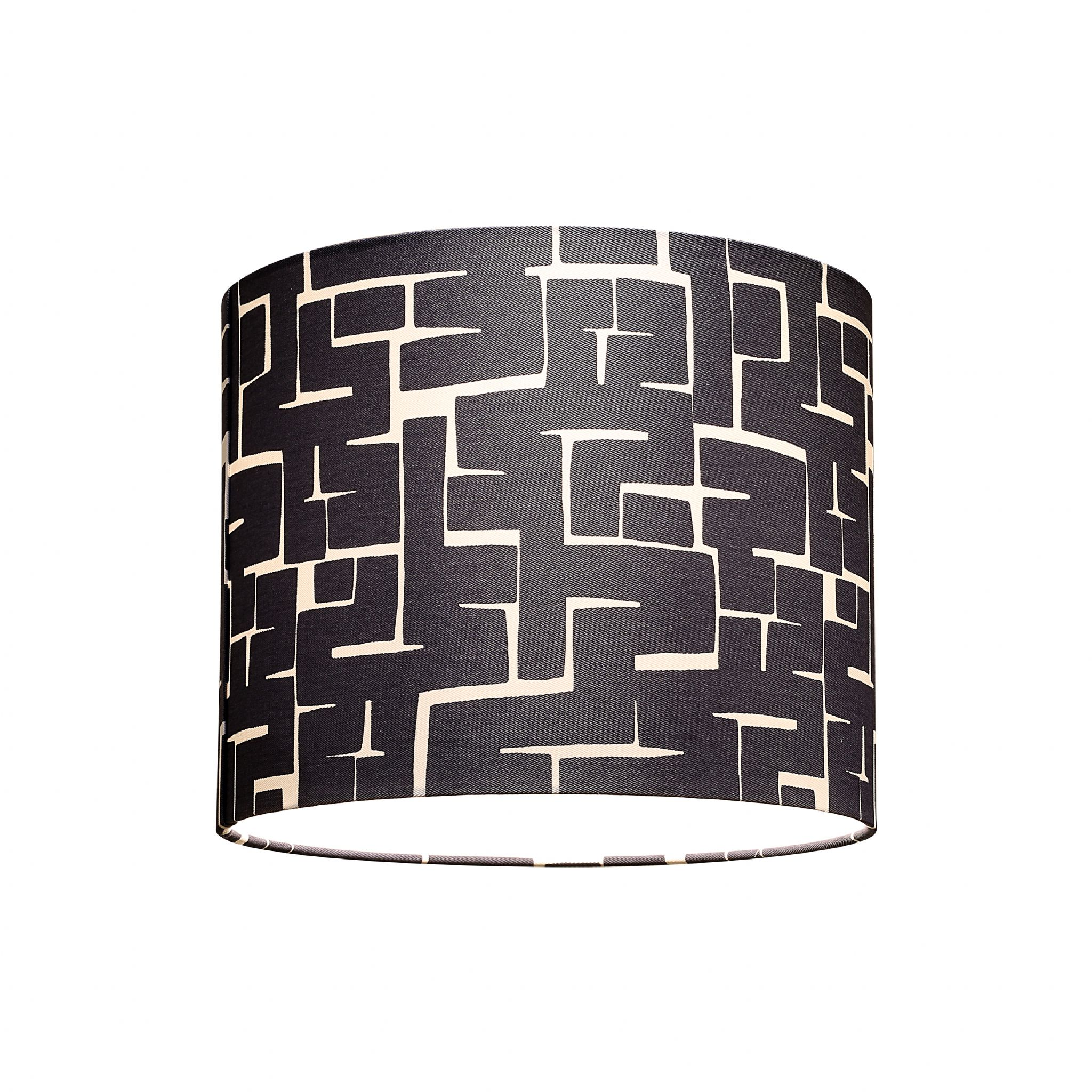 Romo Villa Nova Vence Chambray Navy Blue Geometric Lamp Shade