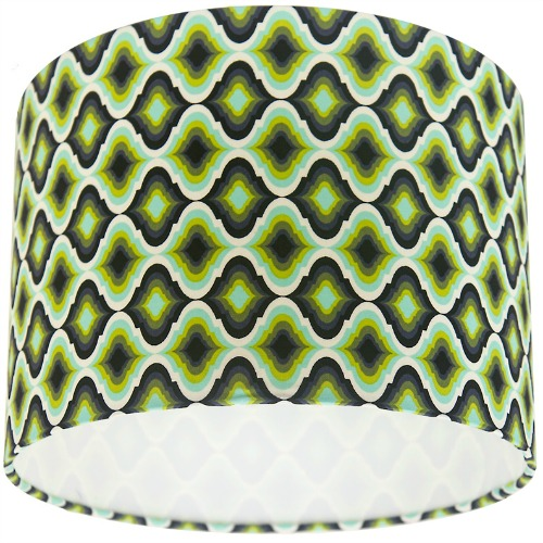 Tula Pink Moonshine Lantern Meadow Green Drum Lampshade