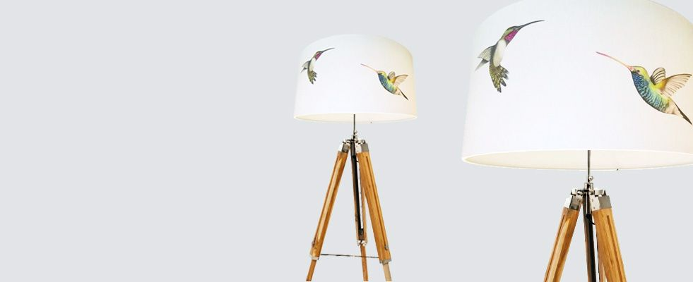 Harlequin Amazilia Hummingbird Designer Drum Lamp Shade