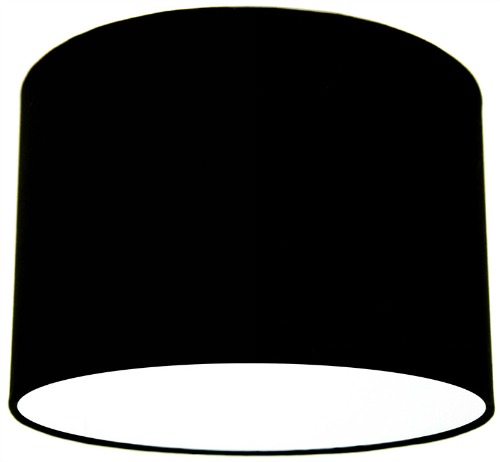 Black Fabric Drum Lampshade
