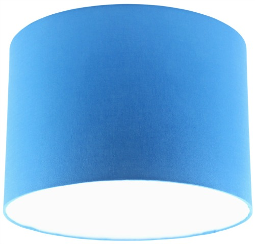 Blue Fabric Drum Lampshade