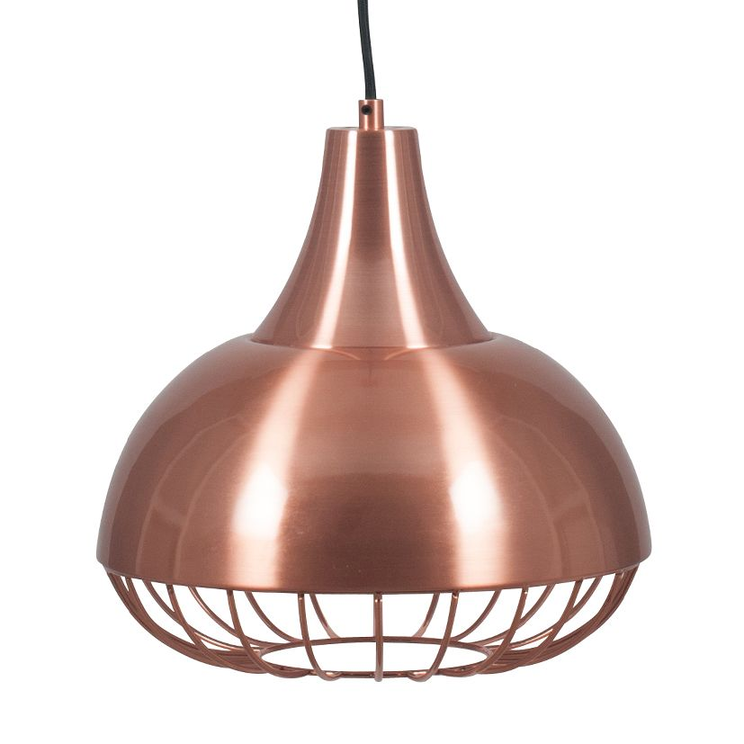 Brushed Copper Cage Electrified Ceiling