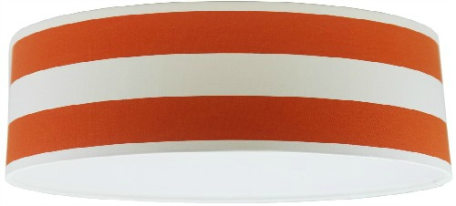 Orange and White Stripey Extra Large Drum Lampshade