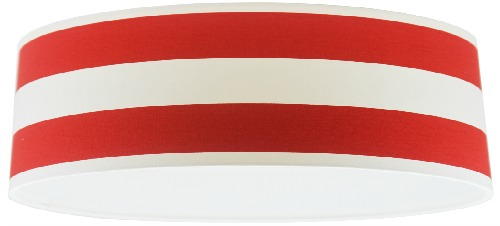 Red and White Stripey Extra Large Drum Lampshade
