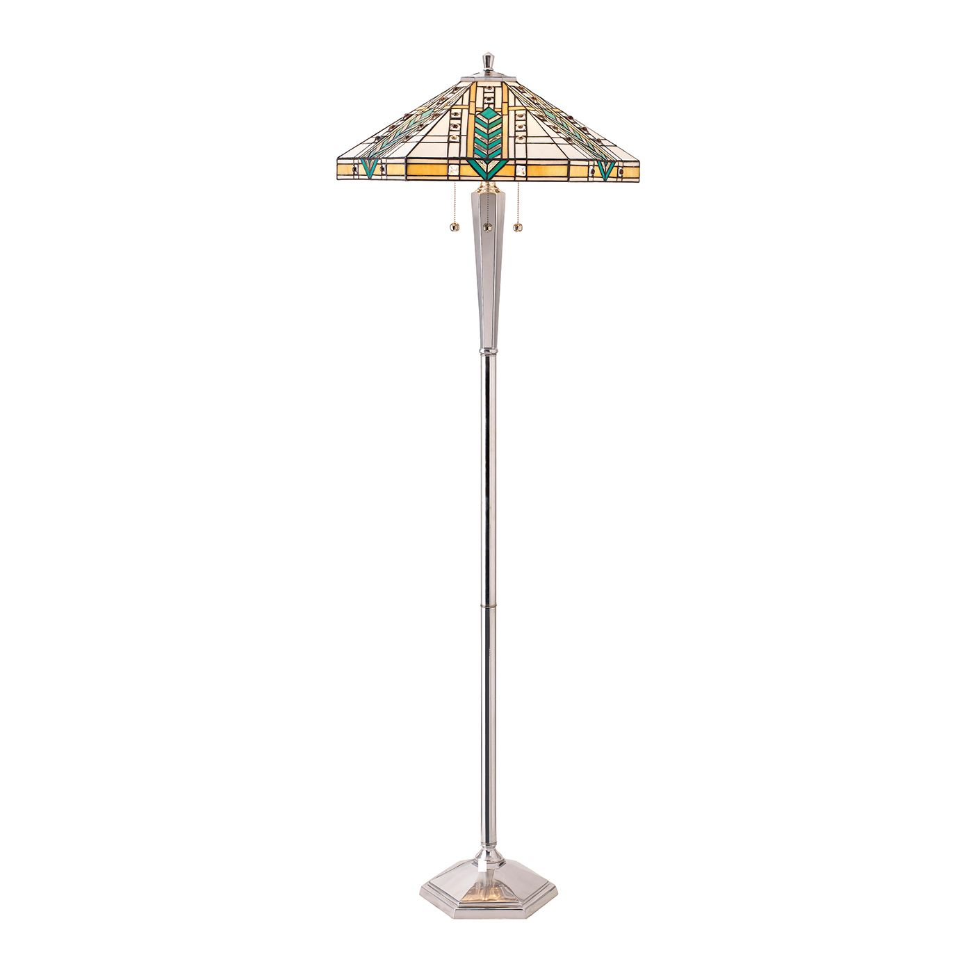 Tiffany lloyd cast aluminium floor lamp aloadofball