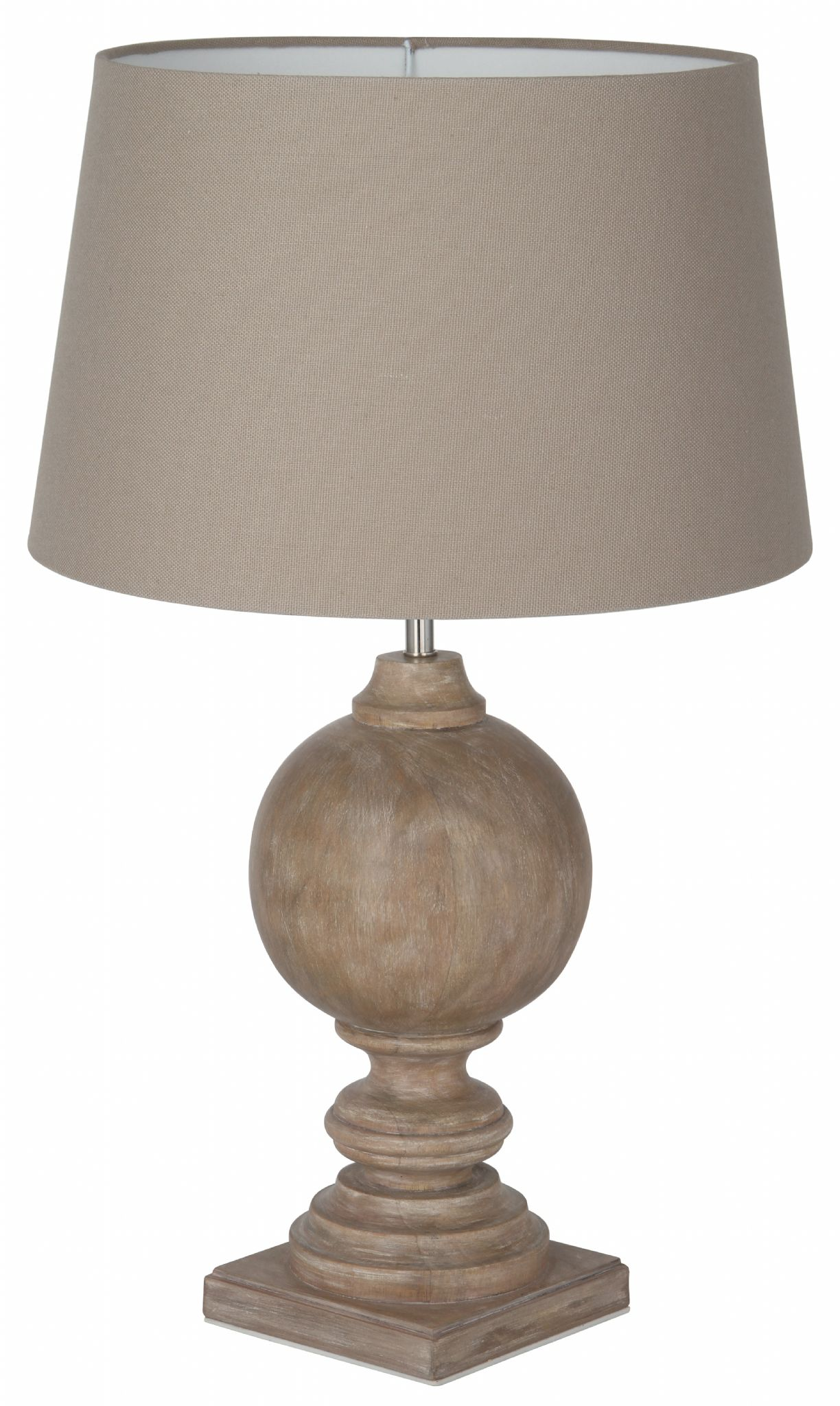 Wooden table lamp base in bleached mango aloadofball Choice Image