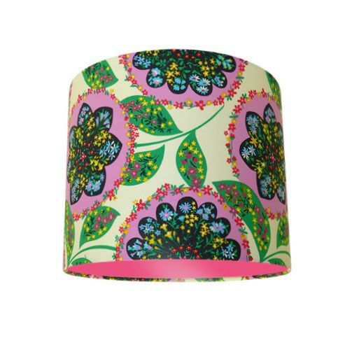 Amy Butler Lark Charisma Floral Drum Lampshade with Choice of Coloured Lining