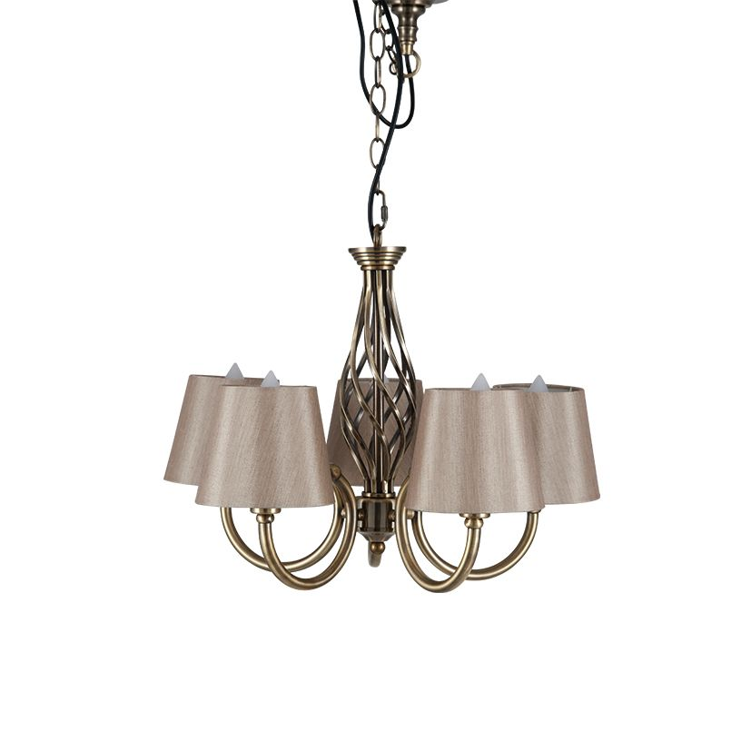 Antique brass 5 arm chandelier aloadofball Image collections