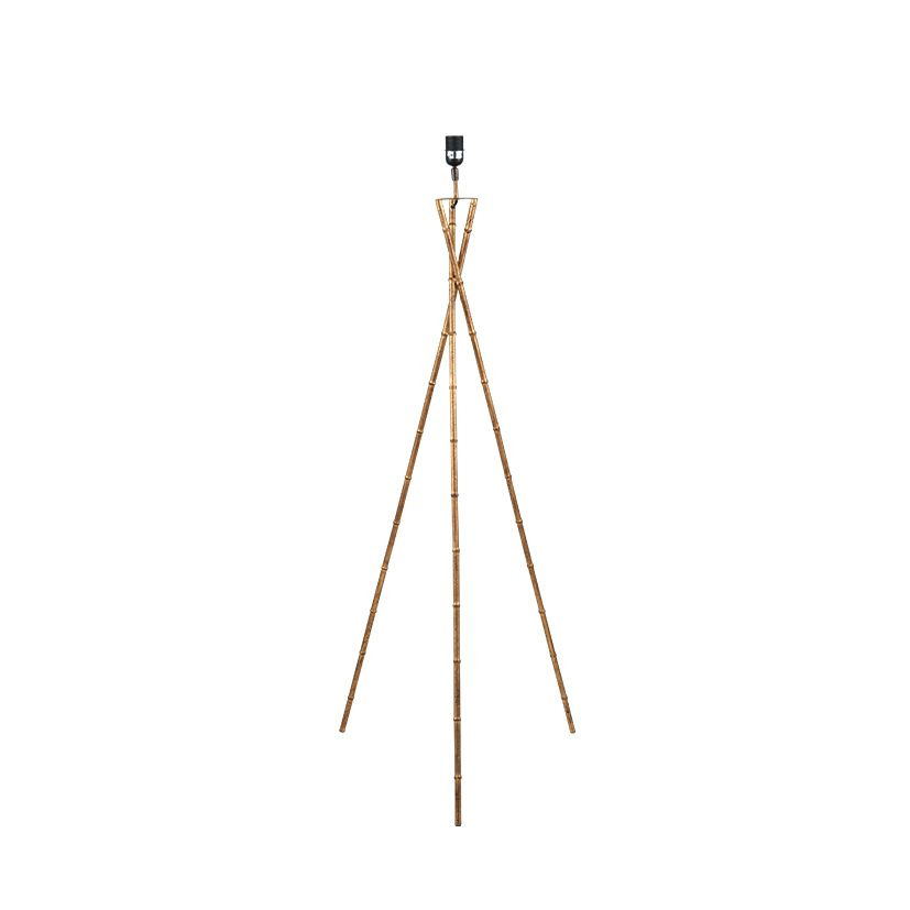 Antique gold metal bamboo tripod floor lamp base mozeypictures Gallery