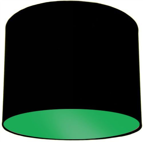 Black Lamp Shade with Apple Green Lining
