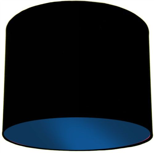 Black Lamp Shade with Dark Blue Lining