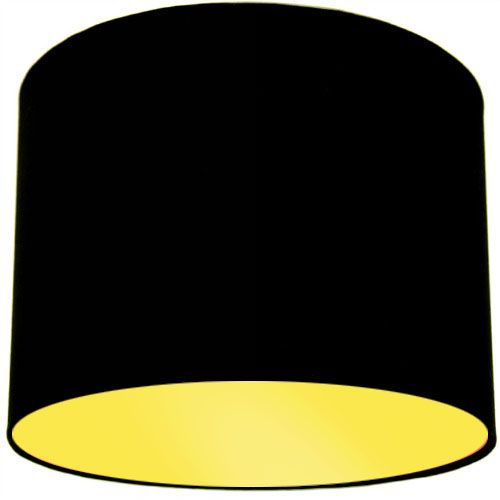 Black Lamp Shade with Primrose Lining