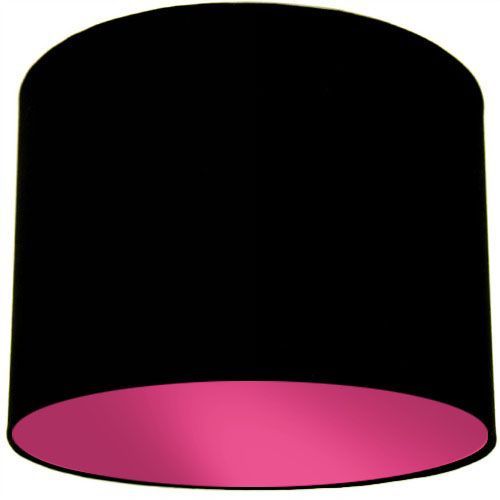 Black Lamp Shade with Violet Lining