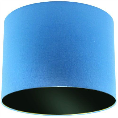 Blue Lamp Shade with Black Lining