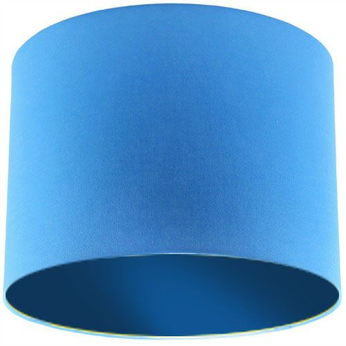 Blue Lamp Shade with Dark Blue Lining
