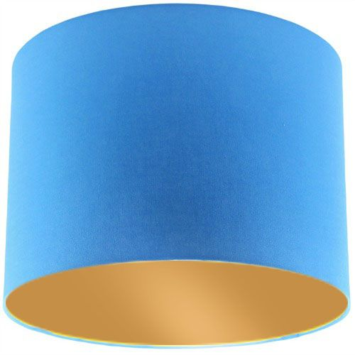 Blue Lamp Shade with Gold Lining