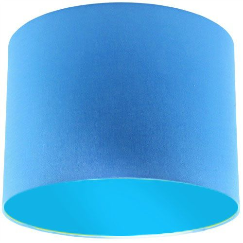 Blue Lamp Shade with Light Blue Lining