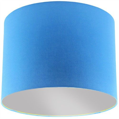 Blue Lamp Shade with Silver Lining