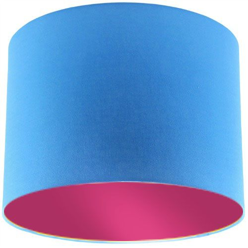 Blue Lamp Shade with Violet Lining