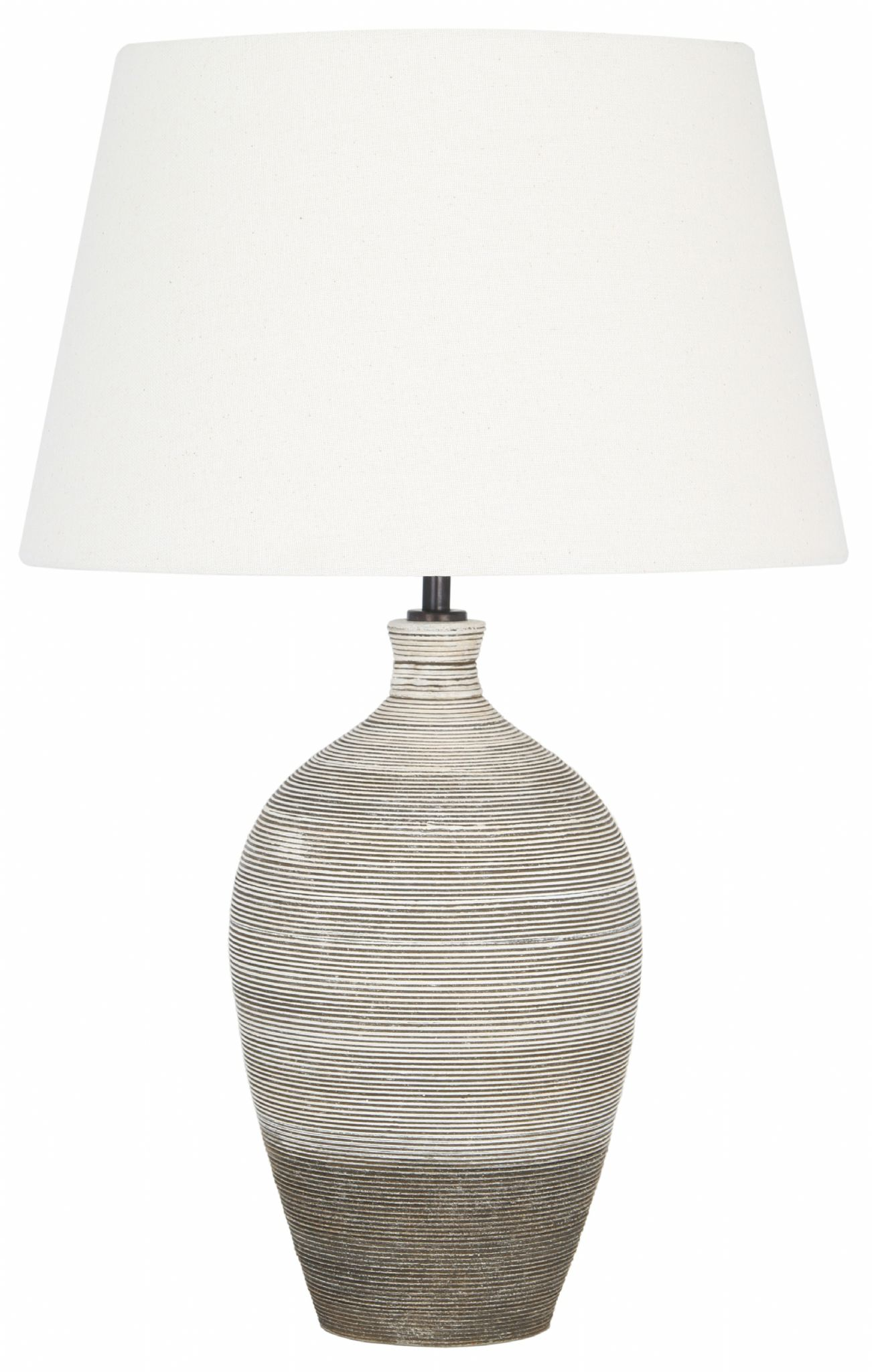 Ceramic Textured Grey Table Lamp Base