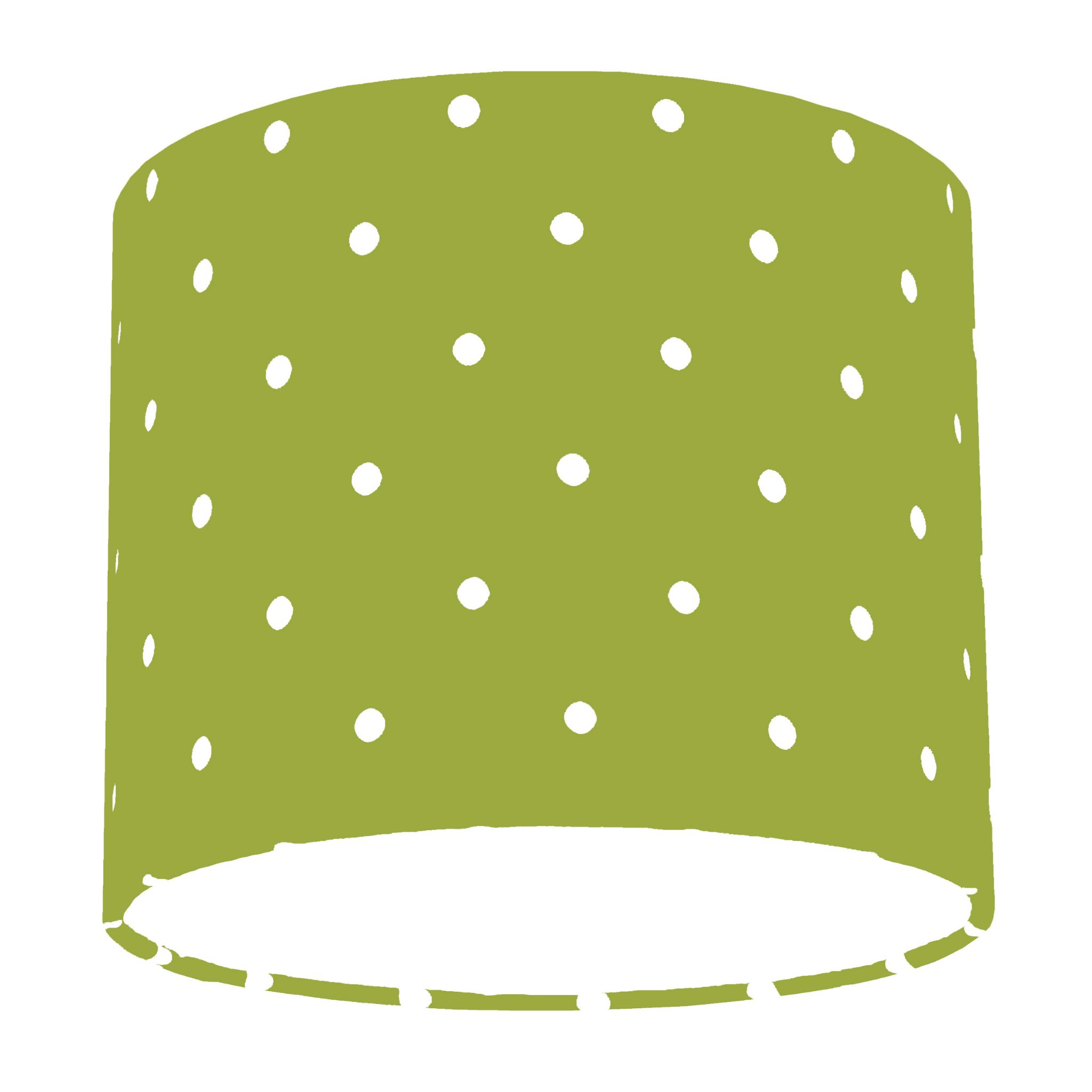 Clarke and clarke lime dotty polka dot drum lamp shade aloadofball