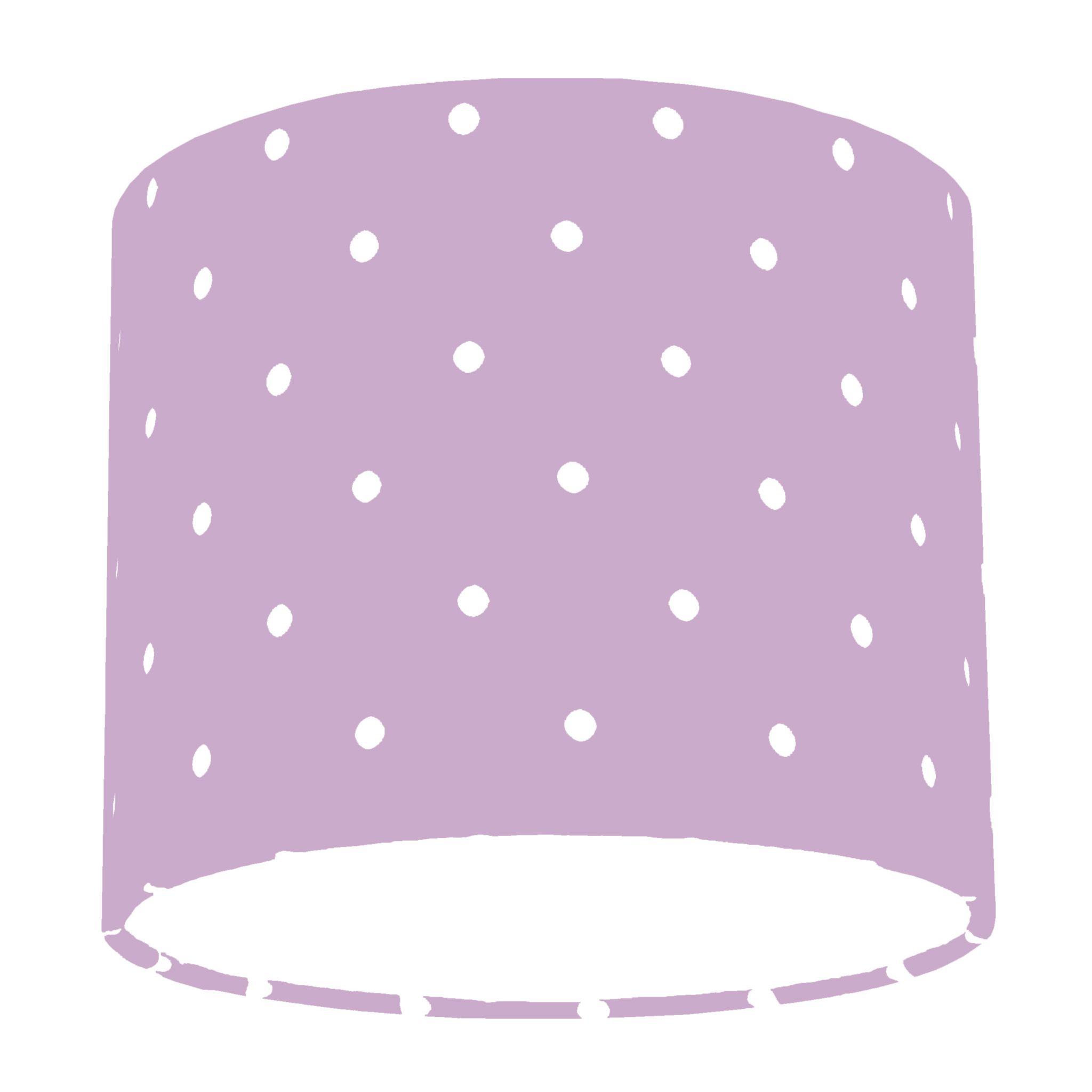 Clarke and clarke mauve dotty polka dot drum lamp shade aloadofball Image collections