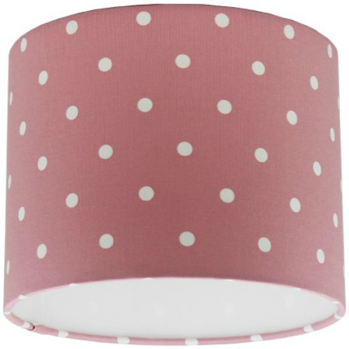 Clarke and clarke pink dotty polka dot drum lampshade aloadofball