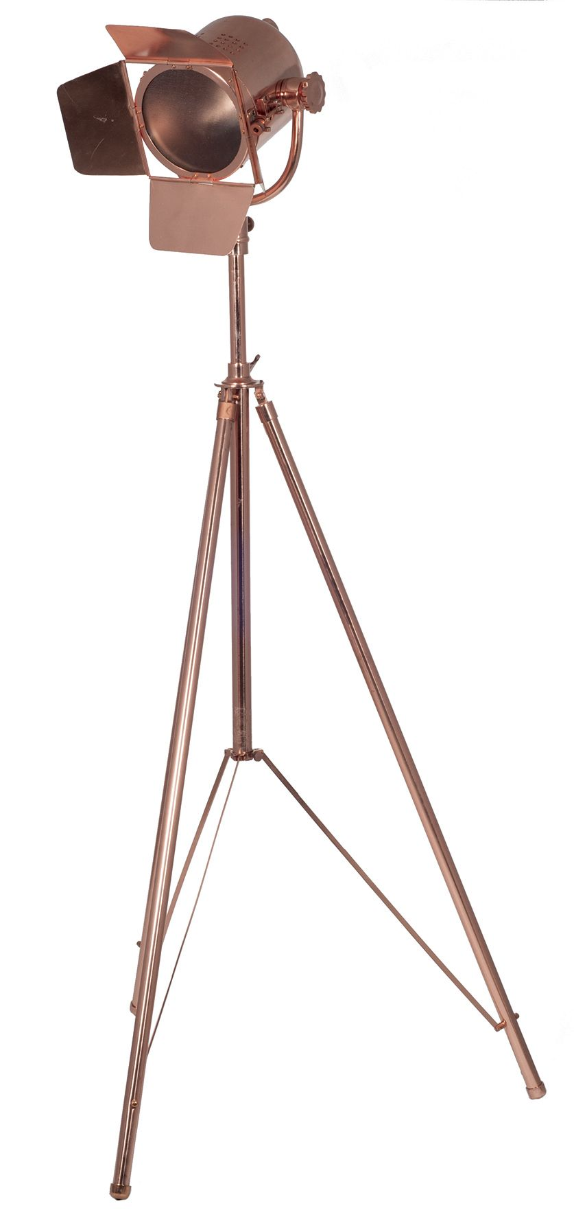 Copper Tripod Film Light Floor Lamp