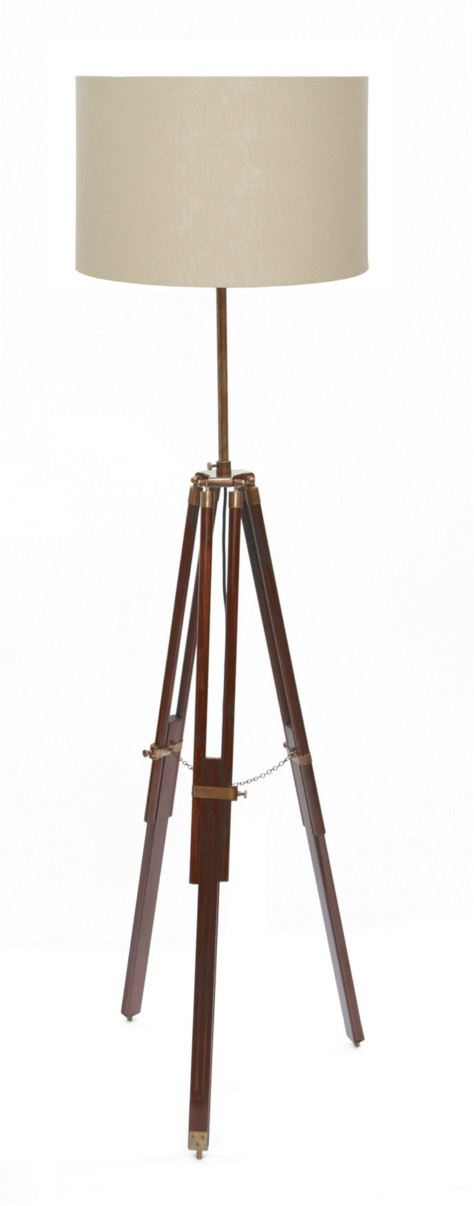 Dark wood tripod floor lamp base mozeypictures Image collections