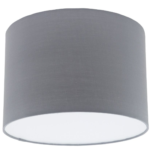 Grey fabric extra large drum lampshade aloadofball Image collections