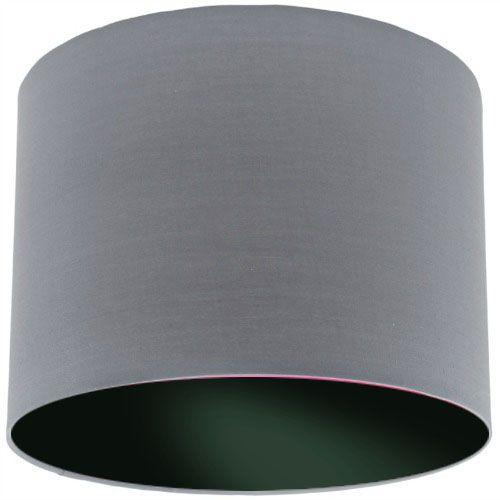 Grey Lamp Shade with Black Lining