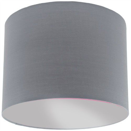 Grey lamp shade with silver lining mozeypictures Gallery