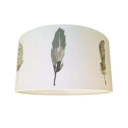 Harlequin Limosa Mustard Cocao Stone Feather Fabric Drum Lampshade