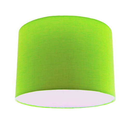 Lime Green Fabric Extra Large Drum Lampshade