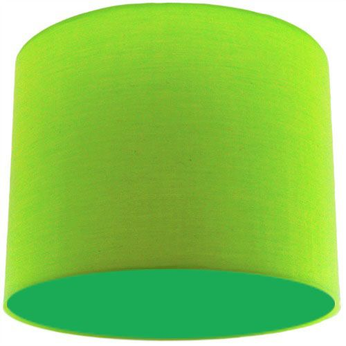 Lime Green Lamp Shade with Apple Green Lining