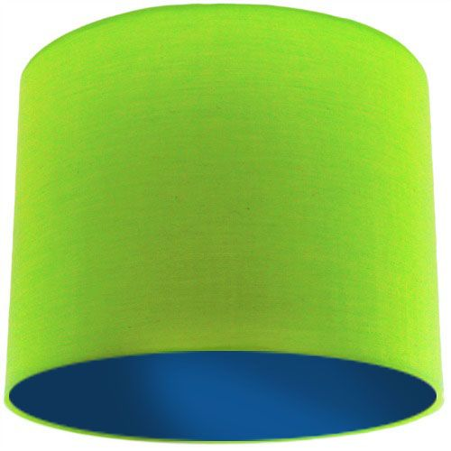 Lime Green Lamp Shade with Dark Blue Lining