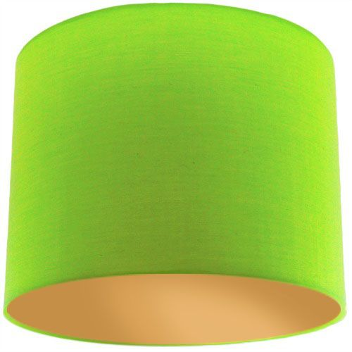 Lime Green Lamp Shade with Gold Lining