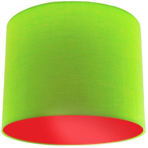 Lime green lamp shade with red lining aloadofball Choice Image