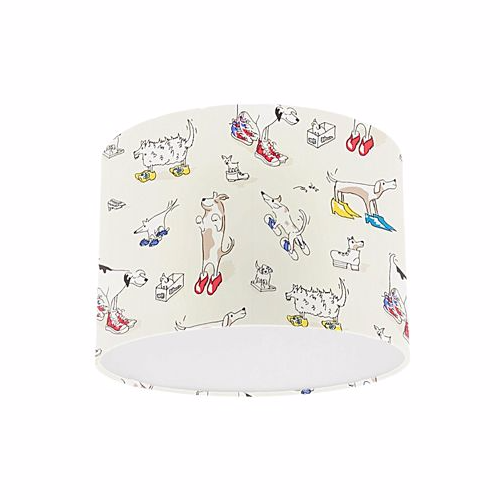 Little Sanderson Abracazoo Dogs In Clogs Rainbow Brights Drum Ceiling Pendant Light Shade