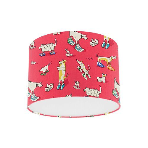 Little sanderson abracazoo dogs in clogs red fabric drum ceiling little sanderson abracazoo dogs in clogs red fabric drum ceiling pendant light shade mozeypictures Image collections
