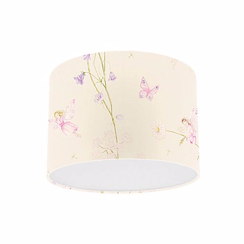 Little Sanderson Abracazoo Fairyland Calico Fabric Drum Ceiling Pendant Light Shade