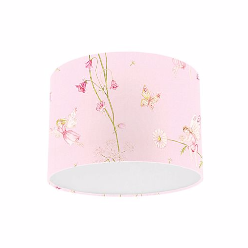 Little Sanderson Abracazoo Fairyland Pink Fabric Drum Ceiling Pendant Light Shade