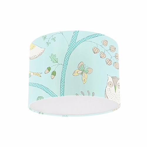 Little Sanderson Abracazoo Going Batty Sky Blue / Buttercup Drum Ceiling Pendant Light Shade