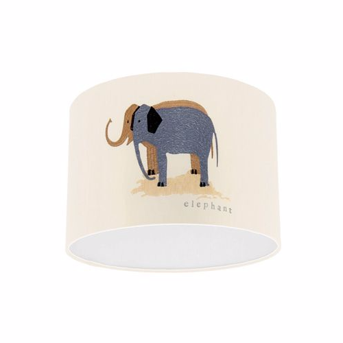 Little Sanderson Abracazoo Two by Two Embroidery Vintage / Multi Fabric Drum Ceiling Pendant Light Shade