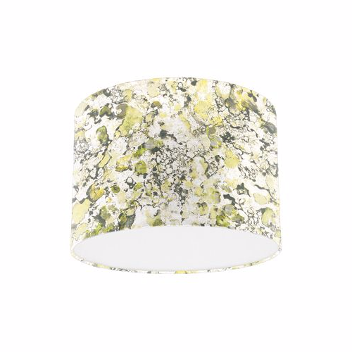 Osborne and Little Pasha Ebru Lime / Pale Chartreuse / Taupe Drum Lamp Shade