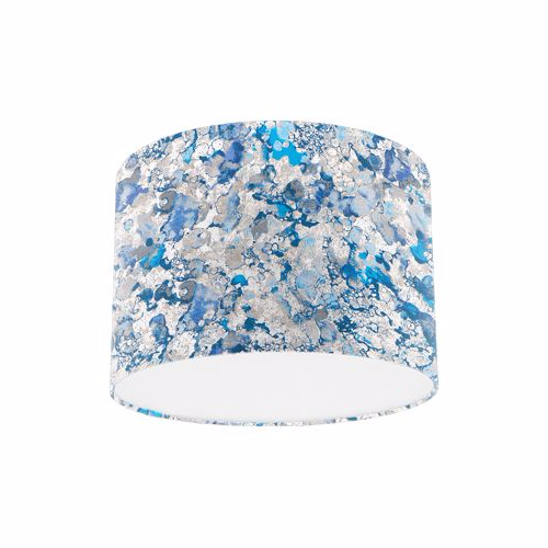 Osborne and Little Pasha Ebru Ultramarine / Denim Drum Lamp Shade