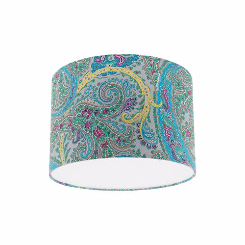 Osborne and Little Pasha Patara Dove / Cyan / Fuchsia Drum Lamp Shade
