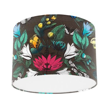 Osborne and Little Pasha Tulipan Multi / Cacao Butterfly Drum Lamp Shade