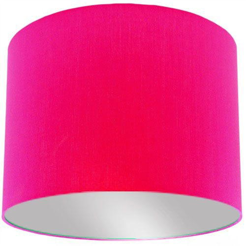 Pink Lamp Shade with Silver Lining